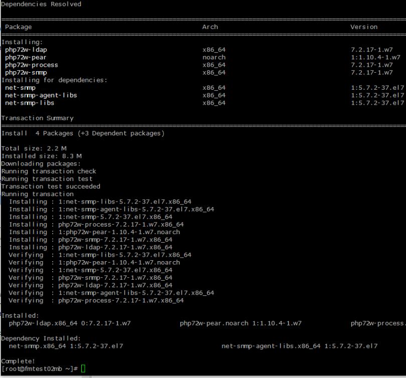 Install PHP 7.2 under CentOS 7