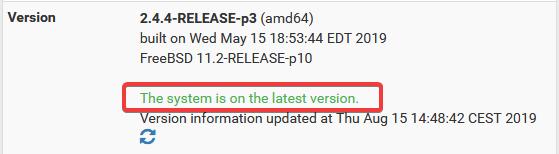 Update pfsense on the command line -