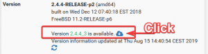 There are updates for your pfsense ahead ...